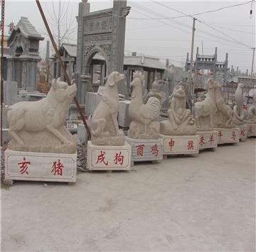 石雕十二生肖报价石雕12属相石雕动物