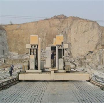 该设备可直接在矿山开采板材及条石,实现工厂搬到矿山上,节省工厂的投资。