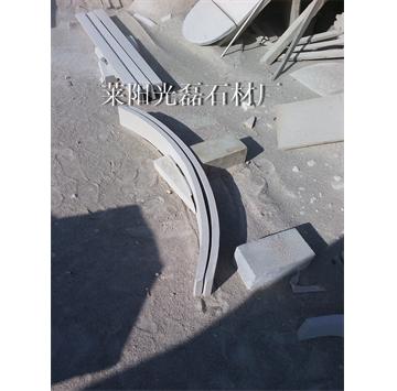 供应山东白砂岩弧形板,各种石材弧形板