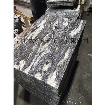 河北太行矿产石材有限公司浪淘沙石材,2公分光面板,3公分火烧板及厚板异形,欢迎广大客户前来合作,目前厂区全面恢复生产,手续全,欢迎下单合作,浪淘沙石材是最近几年河北新推出的特色石材品种,河北太行矿产石材有限公司(150-3285-5367),承接大型工程订单,河北太行浪淘沙石材大量用于外墙立面的装饰以及面铺装,其特有的纹理引领了装修的新潮,浪淘沙石材价格相对适合大面积铺装,自然大气的纹路浑然天成。