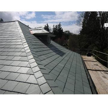 板岩瓦板是天然板岩重要的应用之一,其使用寿命基本上都超过100多年,根据板岩业内人士发现,在欧洲有使用超过500多年的板岩瓦板,所以板岩瓦板是最理想的房顶覆盖材料。天弘石材生产的板岩瓦板是依托自有矿山的开采并精细加工而成,其产品具有其它房顶无法比拟的古朴和高雅,广泛用于别墅、公园、广场、花园小区等建筑的屋顶装饰,同时板岩瓦板易于清洁保养,无任何辐射污染,使得板岩瓦板成为目前高档建筑的首选屋顶建材。      我们生产各种颜色的瓦板可供您的选择,主要包括黑色板岩瓦板、锈色板岩瓦板、灰色板岩瓦板、绿色板岩瓦板等;      加工方式:1、纯自然、2、切角、3、凿边和钻孔;      可供形状:如长方形,正方形,鱼鳞型及客户定做的形状等;      可供规格:30cm*20cm、30cm*30cm、40cm*20cm、40cm*25cm、50cm*25cm、30cm*60cm、60cm*60cm;厚度:0.6-0.8cm  、 0.8-1cm、1-2cm。 电话:13361729532 联系人:吴先生 QQ:1090489537