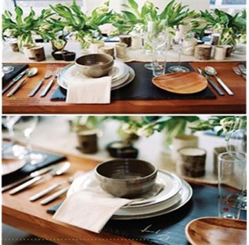 天然板岩石材,因其独特的材质特性以及长时间的保存价值,可以用来定做各种板岩餐盘,杯垫,工艺品,板岩建材包括文化石,蘑菇石,瓦板,地板,流水板等。   如今,板岩餐盘越来越多的应用在高档餐厅,咖啡厅,五星级酒店餐饮区等高端聚会娱乐基地,备受国内外顾客青睐。 由于其纯天然,防潮防水,易清洗,抗热,抗压,硬度大,且其色泽偏黑,偏灰等特点,一经推出便受到国内外餐厅的追捧。我们的产品远销法国,英国,瑞典,韩国等国家。 颜色有:黑色,青色,绿色,灰绿色,黑灰色,锈色 用途:公共场所,派对,西餐厅,家居,礼品,赠品等餐垫的