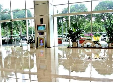 广州保利中心大理石翻新晶面案例