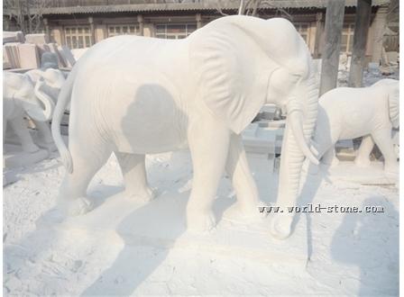 动物石雕-大象