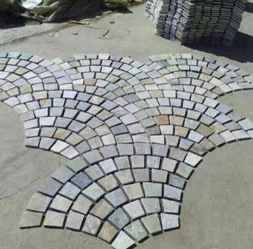 天然板岩扇形