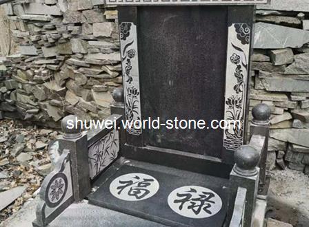 中国蓝 沂蒙黑墓碑