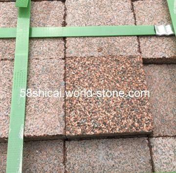 贵妃红是一种质地坚硬的花岗石。可做磨光、亚光、火烧、荔枝面等加工。现做成品有:台面、楼梯踏步、色带,工程板中的内外地面和墙面。贵妃红板材加工成荔枝面大量在园林、广场及外墙中使用。