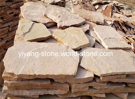 粉砂岩碎拼片石