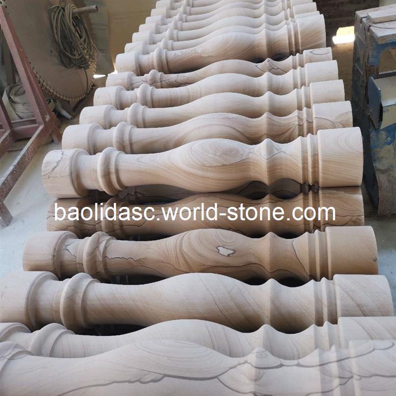 云南砂巖欄桿花瓶柱產區源頭廠家批發,優質低價,電話,13888384833