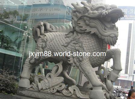 徽商银行石雕麒麟